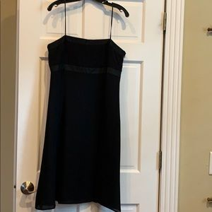 Ann Taylor black silk dress